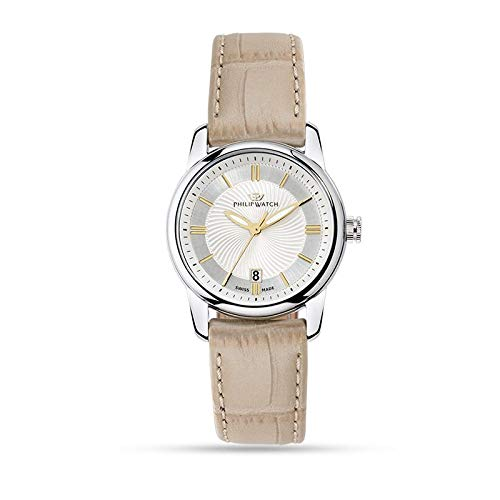 Philip Watch R8251178505 - Orologio da polso Donna, Pelle, colore: Blu