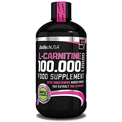 BioTech USA IAF00070558 L-Carnitine 100000 Liquid, 500 ml, Ciliegia