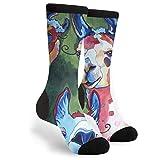Qifejko Llama Pop Art Canapa Palm Flamingo Unisex Athletic Sport Novità calzini a tubo