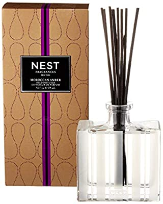 NEST Fragrances Moroccan Amber Scented Reed Diffuser, 5.9 oz