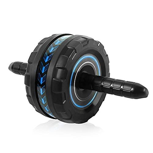 SXPSYWY Imperial rueda gigante recipiente redondo rueda equipo de aptitud rodado abdomen ejercicio abdomen rodillo mudo-azul oscuro