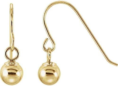 14K Yellow Gold Ball Earrings Youth Ball Earrings