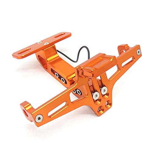 Motorrad-Pit-Sport-Fahrrad Kennzeichenhalter for Yamaha Xt 600 for Yamaha Nmax 125 CBF 125 for Yamaha Fz1 Gsx S1000 Gsx S1000 GLZCPJ (Color : Orange)