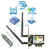 Ubit AX WiFi 6 Dual Band 2974 Mbps AX200 PCIE Wireless WiFi Card with Bluetooth 5.0 | MU-MIMO| OFDMA| Ultra-Low Latency