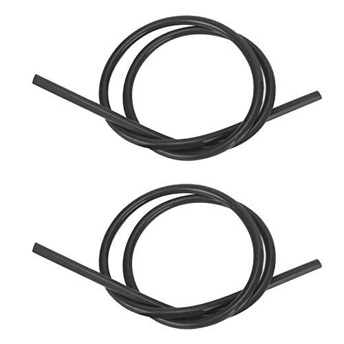 Cable de encendido profesional de silicona 2 piezas para accesorio de encendido de coche(black)