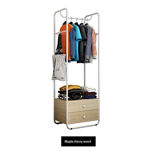Porte manteau Cintre de Plancher de Chambre Simple étendoir Multifonction Rack Porte-Sac Cintre (Color : Pine, Size : 60 * 34 * 160)
