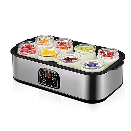 Yoghurt Maker, Yogurt Maker Machine 180ml x 8 Jars, with Adjustable...