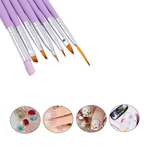 Winwinfly Brosse à poudre Brosse nettoyante pour les arts des ongles pour le maquillage ou les ongles , Stylo à ligne sculptée en cristal