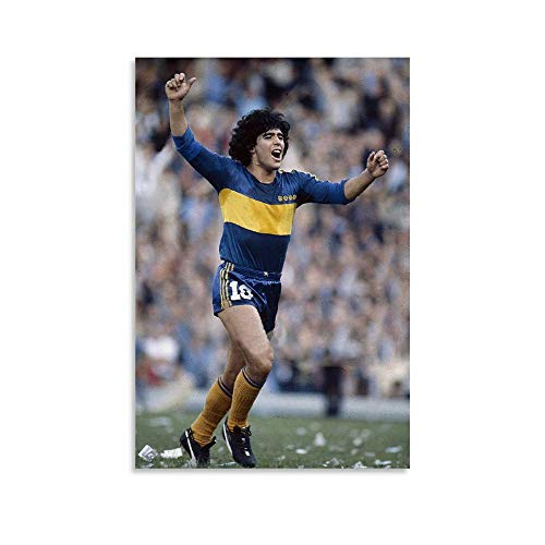 Diego Armando Maradona Boca Juniors Retro-Drucke, Poster, ästhetische Wandkunst, Dekoration, Leinwand, zum Aufhängen, Bild für Zimmer, Schlafzimmer, 30 x 45 cm