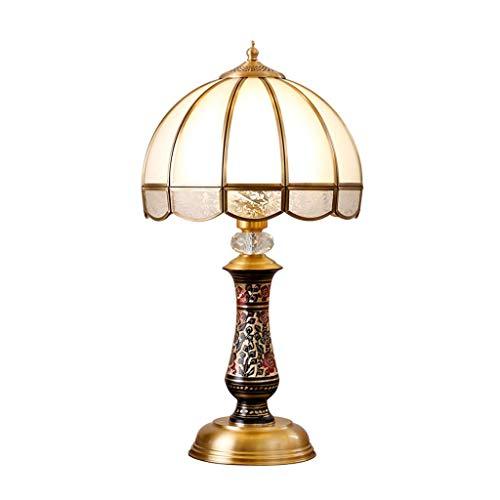 TQQ Lámpara de Mesa Salón Grande Cobre Tabla Dormitorio de la lámpara lámpara de cabecera de Estar Sala de Estudio lámpara de Mesa Caliente de Cobre Lámpara de Mesa de Noche Led