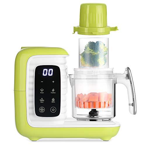 Zanmini Cuocipappa Robot per Pappe, 6 in 1 Pentola a Vapore e Frullatore per Alimenti, per l'infanzia Cucinare Mescolare Riscaldare e Sterilizzare, Robot da Cucina per Bambini 220-240 V