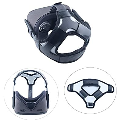 Esimen Head Pad for Oculus Quest Virtual Reality VR Headset Cushion Headband Fixing Accessories, Gravity Pressure Balance Cushion Leather Foam (Gray)