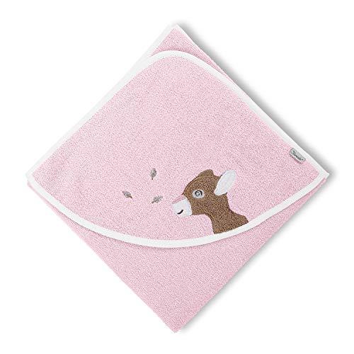 Sterntaler Serviette de bain à capuche Waldis Rosie, Âge: à partir de 0 Mois, 80 x 80 cm, Rose