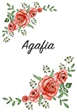 Agafia: Personalized Notebook with Flowers and First Name – Floral Cover (Red Rose Blooms). College Ruled (Narrow Lined) Journal for School Notes, Diary Writing, Journaling. Composition Book Size