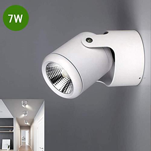 DLLT 7W LED Wandspot Klein 560LM Deckenspot 6000K Kaltweiß Wand Spotleuchte Drehbar Weiß Led Spot für Küche, Flur, Schlafzimmer, Studio, Küche, Esszimmer