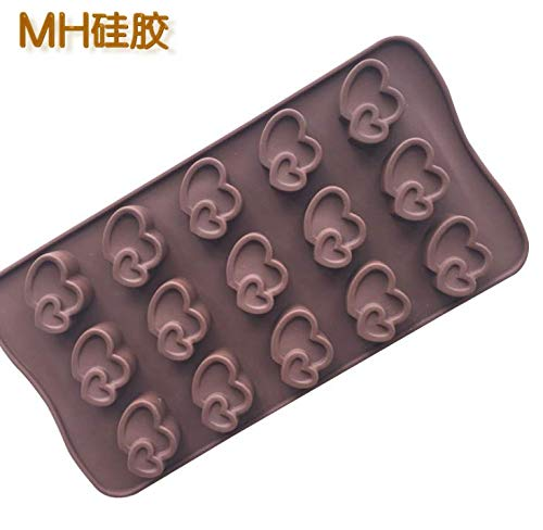 HANBIN Big Love and Little Love Chocolate Mold Silicone Mold DIY Cake Mold Aromatherapy Baking Mold one Arrow Double Heart