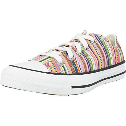Converse Unisex Summer Stripes CTAS OX Low Top Sneaker 168293C Bunt, Schuhgröße:39 EU