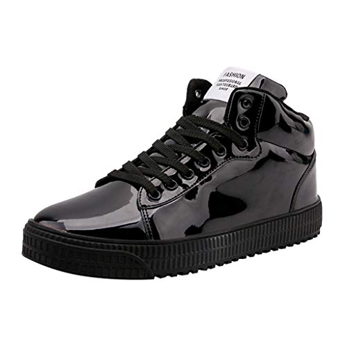 Zapatos de Running para Hombre Mujer Moda Discotecas Lentejuelas Zapatos Casuales de Caña Alta Cómodo Zapatos Planos Gimnasio Calzado 36-47 riou