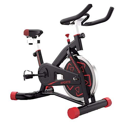 Ciclismo de interior Bicicleta estática Estacionaria Estándar comercial, montaje en Ipad, cojín suave, transmisión por correa suave y silenciosa con asiento y manillar ajustables y base para cardio i