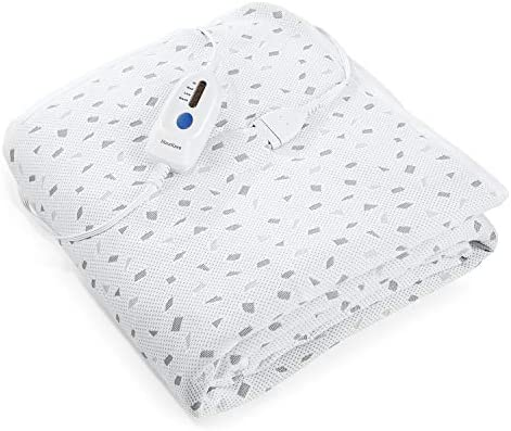 Heated Mattress Pad Twin with Ventilated Technology 100 Polyester Electric Underblanket with product image