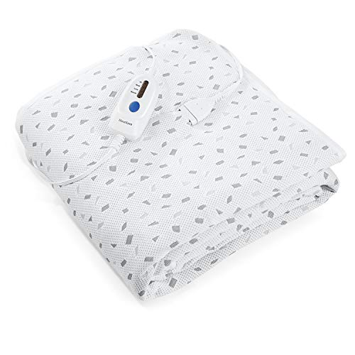 Heated Mattress Pad Twin with Ventilated Technology, 100% Polyester Electric Underblanket with 4 Heating Levels & 10 Hours Auto Off, Fast Heating & Machine Washable