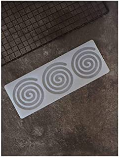 S.Han Silicone Garnishing Sheet 3 in 1 Whirlpool Shape Chocolate Mould Baking Cake Decoration Tool Clay Art