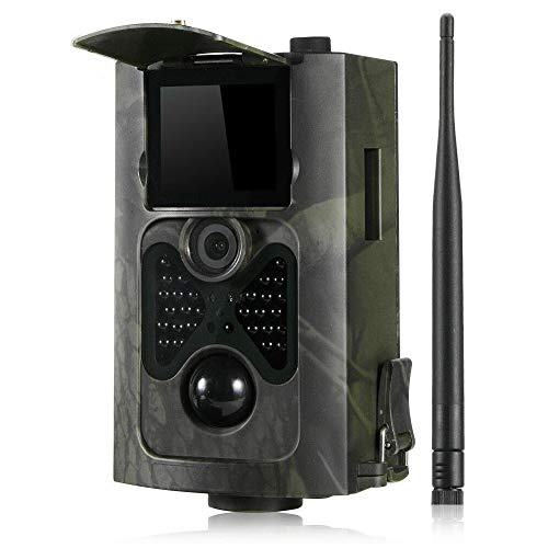 YTLJJ HC-550M 2G Wildkamera Fotofalle 16MP 1080P mit Handy übertragung, Jagdkamera 2G GSM GPRS 30 Pcs Low-Glow 850nm IR-LEDs, Infrarot-Nachtsicht 20m, IP65 wasserdichte Enthält 32G SD-Karte