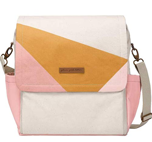 Petunia Pickle Bottom Boxy Backpack | Diaper Bag | Diaper Bag Backpack for Parents | Top-Selling Stylish Baby Bag | Sophisticated and Spacious Backpack for On The Go Moms | Original Birch/Macaron