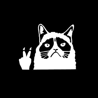 New Funny Grumpy Cat Peace Sign Vinyl Sticker Decal for Your Window Laptop CAR Truck Bumper