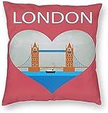 Stad Gebouw Poster Londen Kaart Engeland Britse Kussensloop