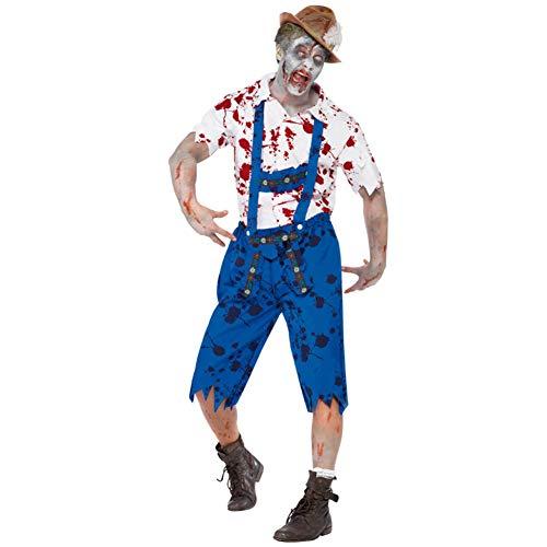 Disfraz De Halloween Hombre Granjero Zombi Adulto Juego De rol Mascarada Paquete De Rendimiento