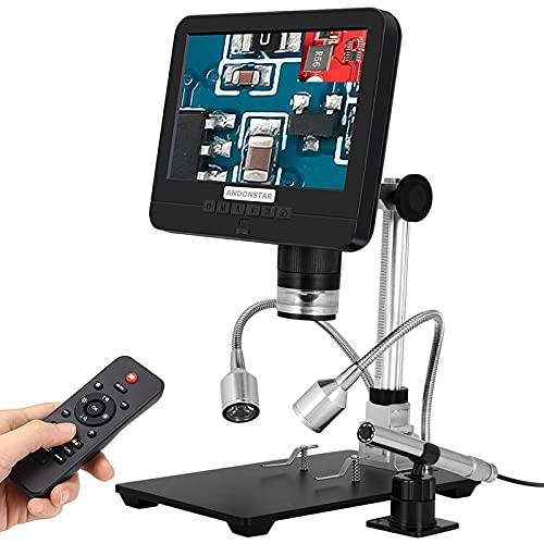 HYY-YY Andonstar Dual Lens Microscopio Digital Endoscopio 7'LCD Disaply for PCB Teléfono Reparación SMD/SMT Soldador Herramientas 3D HD Magnifier (Color : AU Plug)