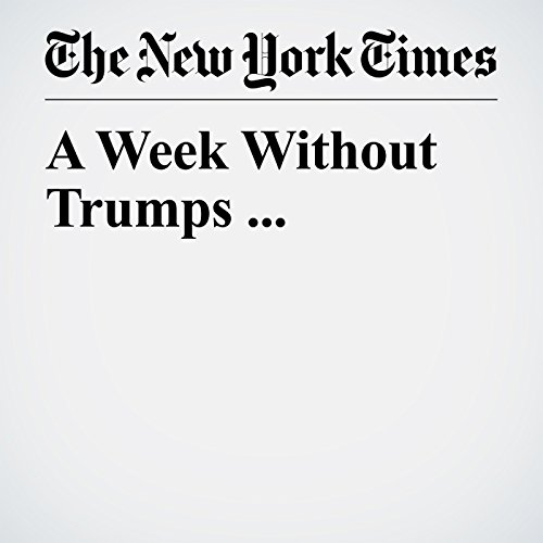 A Week Without Trumps ... copertina