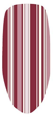 H & L Russel - Fodera per ASSE da Stiro con Dorso gommato, Motivo a Strisce, 120x40cm, Colore: Rosso
