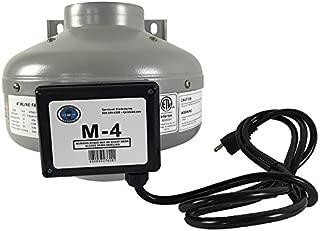 Tjernlund M-4 Metal Inline Duct Fan, 200 CFM, 4