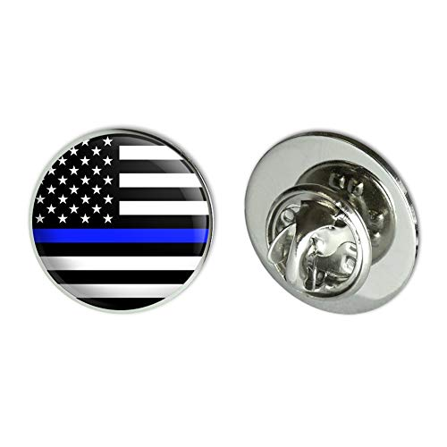 GRAPHICS & MORE Thin Blue Line American Flag Metal 0.75