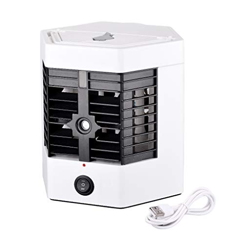 COPPER CHEF DIAMOND 2 in 1 Portable Mist Spray Air Cooler, USB Air Conditioner,with 240ML Water tank, Portable Table Fan for Home Office, Travel