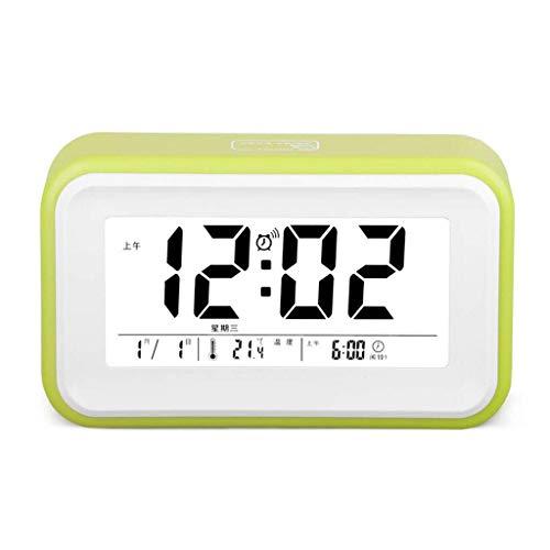 Réveil USB/à Piles Snooze Night Light Dimmable Touch Control Voice 3 Set of Alarm Température Maison Chambre Enfants Halloween Cadeau d'anniversaire