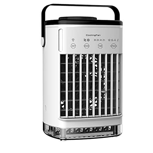 XHMJ Mini condizionatore d'Aria, Materiale ABS, Regolazione della velocità del Vento a Quattro Livelli, Alimentatore USB a Basso Rumore, Adatto per dormitorio/Ufficio, Black