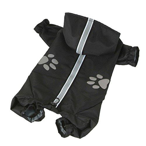 dogOne Impermeable 4 Pattes reflecteur Noir Nylon de