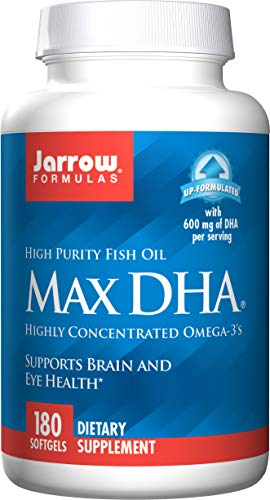 Jarrow Formulas, Max DHA, Highly Concentrated Omega-3's, 180 Softgels