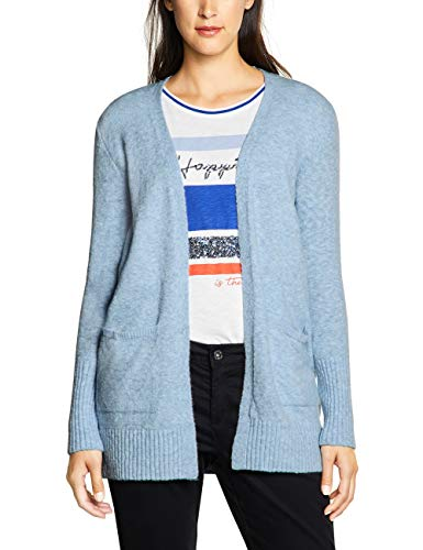 Street One Damen 252916 Canice Strickjacke, Blau (Light Blue Melange 11855), (Herstellergröße:38)