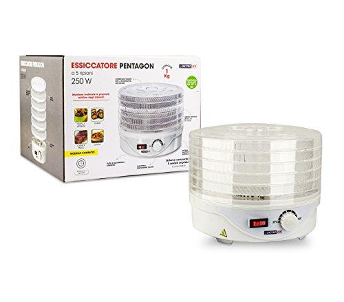 814007 Deshidratador pentágono frutas y hierbas DICTROLUX con 5 estantes 250W