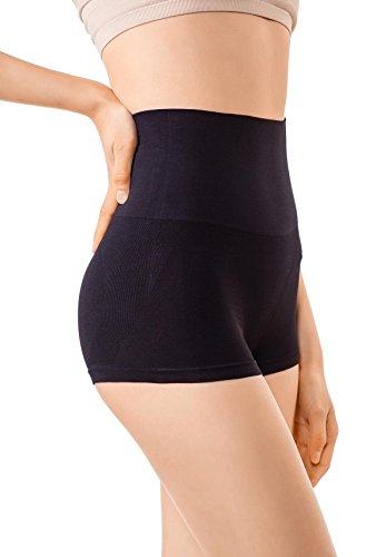 +MD Pantaloncini Donna Culotte Shorts Intimo Fitness Sport Hot Pant Shapewear Body Shaper Medium Nero
