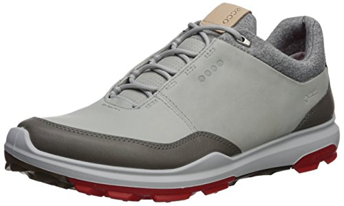 ECCO Men's Biom Hybrid 3 Gore-Tex Golf Shoe, Concrete/Scarlet Yak Leather, 43 M EU (9-9.5 US)