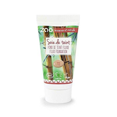 Zao Refill Silk Foundation 713claro de Beige líquido de maquillaje de Sorrel (bio, Vegan) 111713