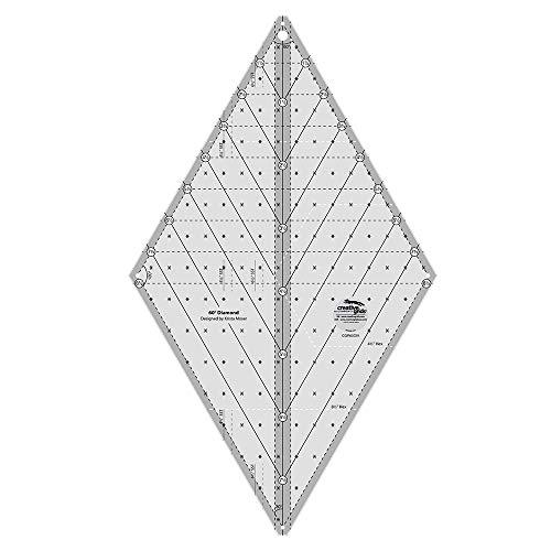 Creative Grids 60 Degree Diamond Ruler - CGR60DIA