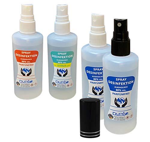 100ml Handdesinfectie SPRAY voor onderweg met 80% alcohol met een lichte citrusgeur - zeer huidvriendelijk - desinfectiemiddel voor handen