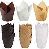 150 Stück Cupcake Liner Papier Muffin Backbecher aus Papier Cupcake Wrappers Tulpe Muffin Schalen Papier Cupcake Wrapper Papier Kuchen Cup Cupcake Muffin Zwischenlagen Wrapper für Hochzeit,Party