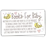 50 Cute Bee Books for Baby Shower Request Cards - Invitation Inserts